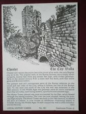 POSTCARD CHESHIRE CHESTER THE CITY WALLS LOCAL HISTORY CARD