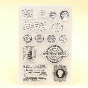 Silicone Postal Clear Stamps Scrapbook Paper Craft Invitations Cards Decoration