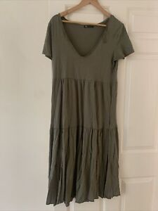 Zara Khaki Midi Dress S