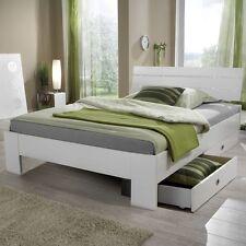 Nightlight / 140x200 Bett Jugendbett Ehebett Bettgestell Weiß matt Straßkristall