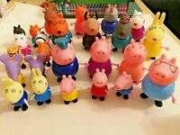 NEW 25PCS Peppa inspired Pig  Family & Friends Figures toys PLAYSET