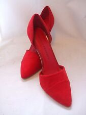 """CHINESE LAUNDRY """"Side Kick"""" Red Suede Pointed Toe High Heels 9.5M"""