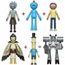 """New Set Of 6 Rick and Morty 5"""" Figure IN STOCK BAF Birdperson, Poopy, Snowball"""