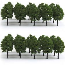 20PCs Green Trees Model Train Railway Scenery Forest Foliage Wargame Landscape