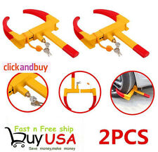 2X Wheel Lock Clamp Boot Tire Claw Trailer Auto Car Truck Anti-Theft Towing US X