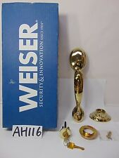 NEW WEISER KINGSWAY OUTER TRIM ENTRY HANDLES GA9771 K3 BR WS B BRIGHT BRASS