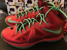 Nike Lebron 10 X XMAS Christmas Size 10.5 VNDS Worn very few times