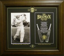 DON BRADMAN 'THE RECORD' FRAMED CRICKET PRINT