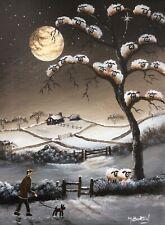 MAL.BURTON ORIGINAL OIL PAINTING. CRAZY SHEEP NORTHERN ART DIRECT FROM ARTIST