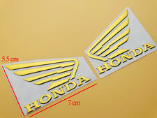 Motorcycles 3D Raise Oil Tank Emblems Decal for Honda Wing Hornet CB600 MT Gold