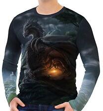 Drachen Herren Langarm T-Shirt Tee wa2 aao40896