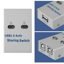 Pc Sharing Switch Printer Sharing Adapter Silver for Printer Scanner Plotter