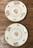 "COVENTRY SYRACUSE OLD IVORY VINTAGE PAIR OF 6-1/4"" BREAD & BUTTER PLATES EUC"