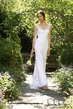 NICOLE MILLER BROOKE LACE BRIDAL WEDDING DRESS SIZE 12 $2005 JC0001