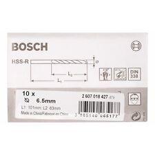 Bosch 2607018427 6.5mm x 63 x 101 mm HSS-R DIN338 Drill Bits