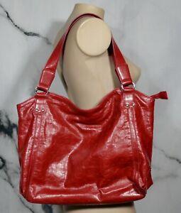 NEW YORK & COMPANY NY&C Red Embossed Tote Satchel Bag Purse Polyurethane