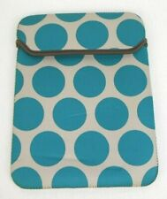 Thirty One Bags Totes Tablet Ipad kindle Nook Teal Polka- Dot Patterned Case EUC