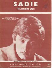 Saidie (The Cleaning Lady) - Johnny Farnham - 1966 Aussie Sheet Music