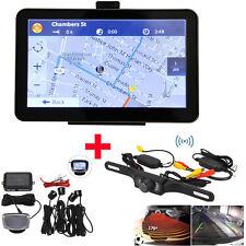 "Wireless 7"" Car GPS Mirror Bluetooth Navigation+Rear View Camera+Parking Sensors"