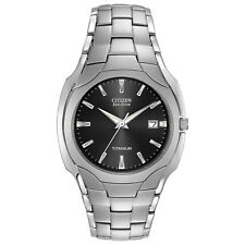 Citizen Eco-Drive Men's Black Dial Titanium Bracelet 38mm Watch BM6560-54H