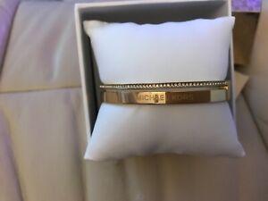 michael kors bracelet, gold coloured, new, still in box