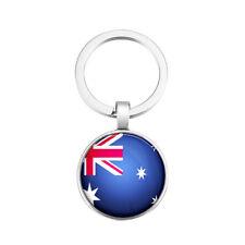 Schlüsselanhänger Schlüssel Anhänger Australien Australia Rund Metall Flagge Alu
