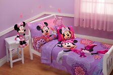 Disney 4-Piece Minnie Mouse Fluttery Frien 00006000 ds Toddler Bedding Set