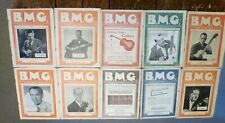 B M G BANJO MANDOLIN GUITAR MAGAZINES.X 10 ..VINTAGE 1940