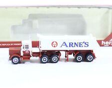 Arnes Welding Peterbilt Tractor Truck + Dump Trailer 1:87 Promotex Herpa HO 6009