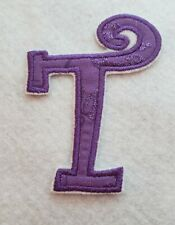 New listing Purple Monogrammed Letter T 3 3/4 inchIron on Embroidered Applique Patch