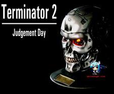 Terminator T-800 Head Skull 1/1 Figure Vinyl Model Kit with LED & BASE