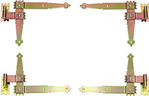 Winkelband Fensterladen Fensterband 250 x 220 Winkelscharniere Pulver 4St.