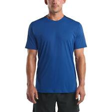 Saucony Hommes UV Lite Jogging T Shirt Tee Top Bleu Sport Respirant