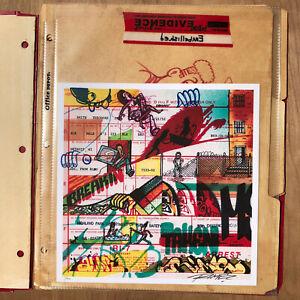 RIME MSK Graffiti Arrest Sheets Felony Edition Print Set 1xRUN Street/ Urban Art