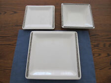 Artina Ceramic and Pewter 3 Piece Table Setting - NIB