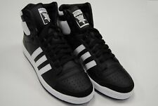 [B34429] NEW MEN'S ADIDAS ORIGINALS TOP TEN HI BLACK WHITE BLACK AM314