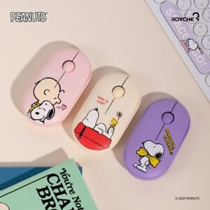 Royche Peanuts Snoopy Wireless Noiseless Bluetooth Mouse Computer USB 2.4GHz