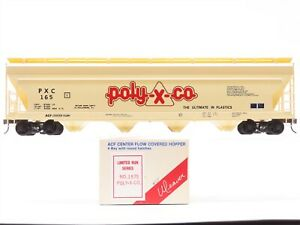 O Scale 2-Rail Weaver Limited Run 1575 PXC Poly-X-Co. 4-Bay Covered Hopper #165