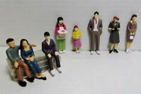 1:32 Scale Model Figures Hand Painted 8 Pieces 8 Different Poses