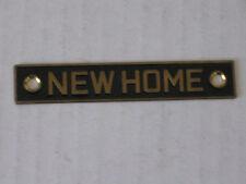 vintage NEWHOME kitchen appliance shield logo emblem home metal  enamel trim