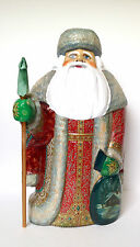 12.5 inch Russian SANTA & Children Guardian Angel Wood Hand Done Father of Frost