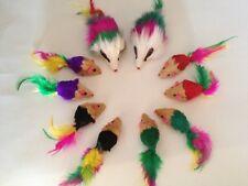 "Cat Toy 32 Mice"" Rainbow Family "" / Catnip Brand New"