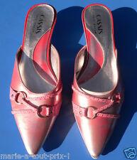 Superbes escarpins sandale sexy T38 rose cerusé 38 chaussures shoes !