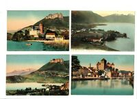 CPA 74 Haute-Savoie lac d'Annecy Lot de 4 cartes