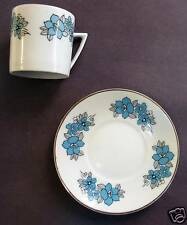 "Demitasse cup and saucer ""blue flowers""  Made in China"
