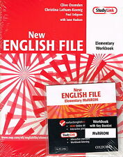 Oxford NEW ENGLISH FILE Elementary Workbook w Key & MultiROM @New@ 9780194387644