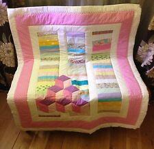 Handmade Building Block Baby Quilt