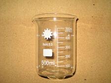 Borosilicate Glass Beakers 500ml