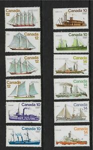 1970'S CANADA - SELECTION OF SHIPS - 3 X FULL SETS - SERIES 2,3 AND 4 - MNH.