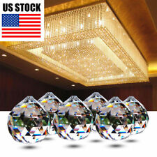 10 pcs Chandelier Crystal Ball Hanging Drop Lamp Prism Part Pendant Home Decor